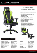 Datasheet gaming chair LC-GC-701BG