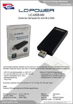 Datenblatt m.2-Festplattengehäuse LC-USB-M2
