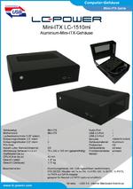 Datenblatt Mini-ITX-Gehäuse LC-1510mi