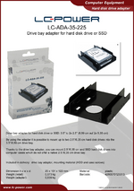 Datasheet HDD adapter LC-ADA-35-225