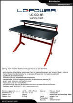 Datenblatt Gaming-Tisch LC-GD-1R