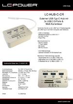 Datenblatt USB-Hub LC-HUB-C-CR