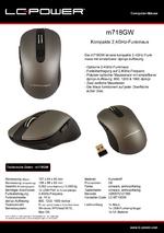 Datenblatt PC-Maus m718GW