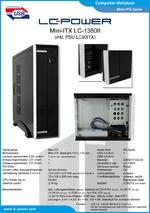 Datenblatt Mini-ITX-Gehäuse LC-1360II