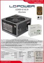 Datasheet ATX power supply unit LC420-12 V2.31