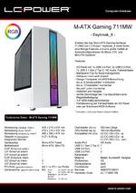 Datenblatt M-ATX-Gehäuse Gaming 711MW Daybreak_X