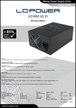 Datasheet mining power supply unit LC1650 V2.31