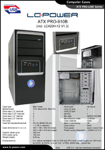 Datasheet ATX case PRO-910B
