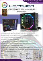 Datasheet ATX power supply unit LC8750RGB V2.3 Prophecy RGB