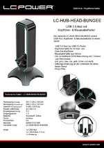 Datenblatt USB-Hub LC-HUB-HEAD-BUNGEE