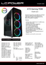 Datasheet ATX case Gaming 703B Quad-Luxx