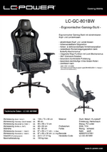 Datenblatt Gaming-Stuhl LC-GC-801BW