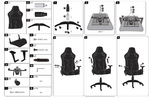 Manual gaming chair LC-GC-801BW