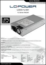 Datenblatt Server-Netzteil LC600-1U-90+