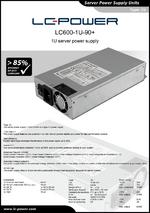 Datasheet server power supply unit LC600-1U-90+