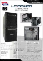 Datenblatt ATX-Gehäuse PRO-924B mit Netzteil LC420-12