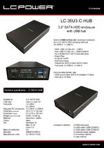 "Datasheet 3,5"" enclosure LC-35U3-C-HUB"