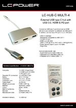 Datasheet USB hub LC-HUB-C-MULTI-4