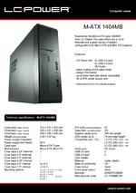 Datasheet Micro-ATX case 1404MB
