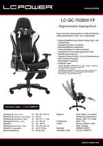 Datenblatt Gaming-Stuhl LC-GC-702BW-FF