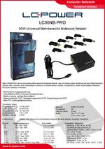 Datenblatt Notebook-Netzteil LC90NB-PRO