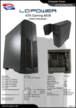 Datasheet ATX case Gaming 983B Silent Interceptor