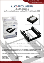 Datenblatt Festplattenadapter LC-ADA-35-225-M