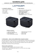 Manual docking station LC-DOCK-U3-III