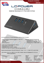Datenblatt USB-Hub LC-HUB-ALU-2B-4