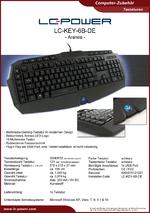 Datenblatt Tastatur LC-KEY-6B-DE
