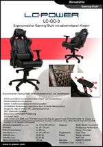 Datenblatt Gaming-Stuhl LC-GC-3