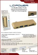 Datenblatt USB-Hub LC-HUB-C-MULTI-2G