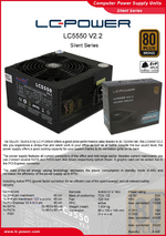 Datasheet ATX power supply unit LC5550 V2.2