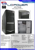 Datenblatt ATX-Gehäuse 7024B mit Netzteil LC420-12