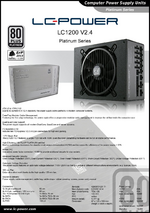 Datasheet ATX power supply unit LC1200 V2.4 Platinum