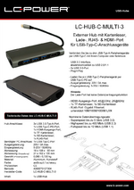 Datenblatt USB-Hub LC-HUB-C-MULTI-3