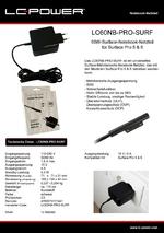 Datenblatt Notebook-Netzteil LC60NB-PRO-SURF