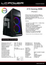 Datenblatt ATX-Gehäuse Gaming 999B Phantasm