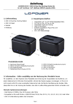 Anleitung Docking Station LC-DOCK-U3-III