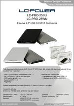 "Datasheet 2,5"" enclosure LC-PRO-25BU"