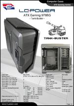 Datasheet ATX case Gaming 978BG Tank-Buster