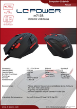 Datenblatt PC-Maus m713B