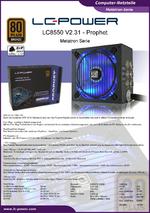 Datenblatt ATX-Netzteil LC8550 V2.31 Prophet