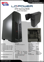 Datenblatt ATX-Gehäuse Gaming 983B Silent Interceptor