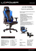Datasheet gaming chair LC-GC-701BBL