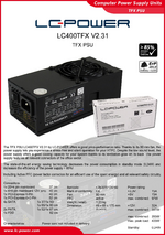 Datasheet TFX power supply unit LC400TFX V2.31