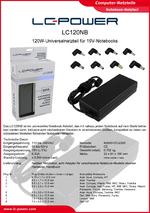 Datenblatt Notebook-Netzteil LC120NB