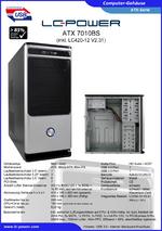 Datenblatt ATX-Gehäuse 7010BS mit Netzteil LC420-12