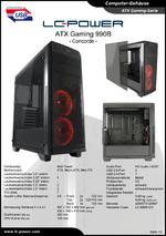 Datenblatt ATX-Gehäuse Gaming 990B Concorde