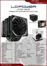 Datasheet CPU cooler LC-CC-120-X3